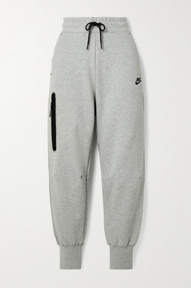 Nike Cotton-blend Jersey Track Pants - Gray