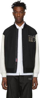 MONCLER GENIUS 7 Moncler Fragment Hiroshi Fujiwara Black Raggae Bomber Jacket