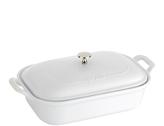Staub White Ceramic 4-Qt. Rectangular Covered Baking Dish