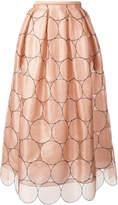 Rochas circles applique skirt