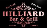 AdvPro Name u20186-r HILLIARD Family Name Bar & Grill Home Beer Food Neon Sign