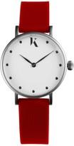 Ksana Ruby Red & Silver Vegan Watch - 30mm