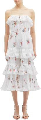 Zimmermann 'Heathers' floating bouquet print tiered ruffle camisole dress