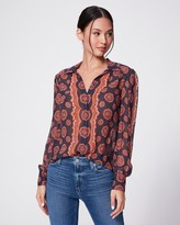 Paige CARAWAY BLOUSE-PERISCOPE/BLOOMING DAHLIA