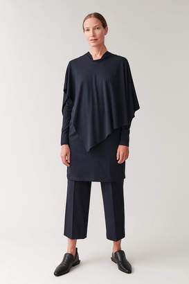 Cos LAYERED TUNIC WITH NECK-TIE