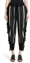 3.1 Phillip Lim Women's Ruffle Stripe Knit Pants