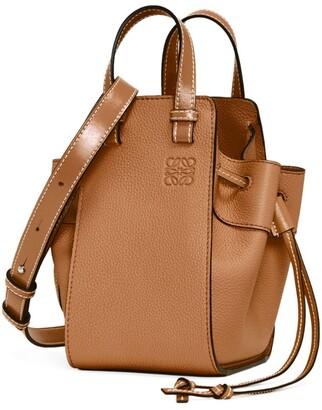 Loewe Mini Leather Hammock Drawstring Bag