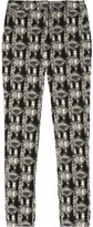 Lela Rose Everyday patterned cotton-blend brocade pants