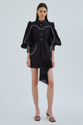 C/Meo TANGO LONG SLEEVE DRESS Black W Ecru