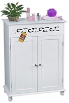 ASPECT Somerset Floor Standing Bathroom/Bedroom Storage Cupboard with Inner Shelf, MDF, White, 60 x 30 x 80 cm