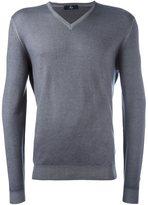 Fay v neck fine knit jumper
