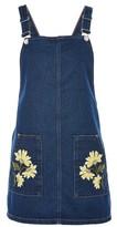 Topshop MOTO Floral Pocket Pinafore Dress