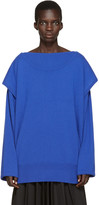 Loewe Blue Cashmere Layered Sweater