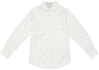 Gucci Kids Embroidered Oxford cotton shirt