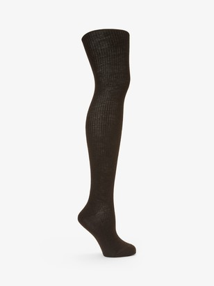 John Lewis & Partners Wool Ribbed Tights