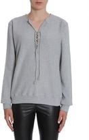 Saint Laurent Lace-Up Sweatshirt