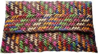 Araci Palm Clutch - Coffee & Multicolour