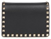 Valentino Women's Rockstud Leather Wallet On A Chain - Black