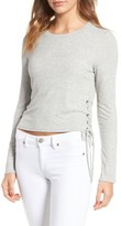 Splendid Women's Lace-Up Ribbed Tee
