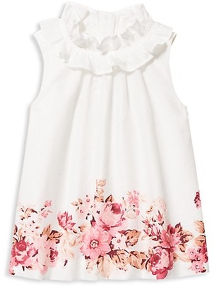 Janie and Jack Baby's, Little Girl's & Girl's Floral Cotton Batiste Shirt