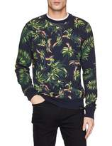 Scotch & Soda Men's All-Over Printed Crew Neck Sweat Sweatshirt
