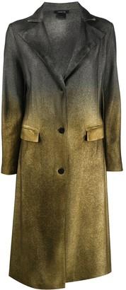 Avant Toi Single Breasted Cashmere-Merino Mix Ombre Coat