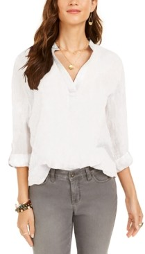 Style&Co. Style & Co Plus Size Cotton Popover Top, Created for Macy's