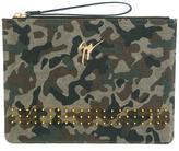 Giuseppe Zanotti Design camouflage clutch