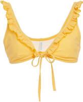 Solid & Striped Milly Ruffle Trim Bikini Top