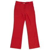 Givenchy Red Wool Trousers