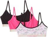 Calvin Klein Big Girls' 3 Pack Fashion Crop Bras