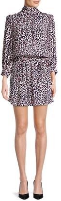 Zadig & Voltaire Rivali Leopard Blouson Mini Dress