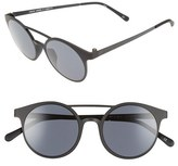 Le Specs Women's 'Demo Mode' 49Mm Aviator Sunglasses - Black Rubber