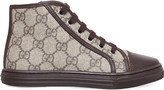 Gucci California canvas and leather high-top trainers 4-8 years