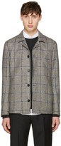 Tiger of Sweden White Check Bronson Jacket