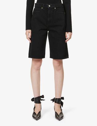 KHAITE Mitch high-rise denim shorts