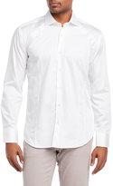 Bogosse White Sheen Button-Down Shirt