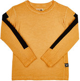 Nununu Appliquéd-Stripe T-Shirt-ORANGE