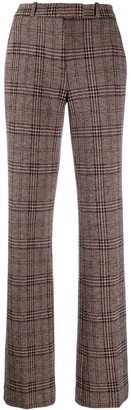 Etro Tweed Check Wide Leg Trousers