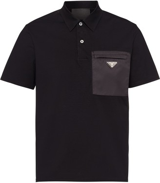 Prada Triangle Logo Polo Shirt