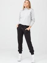 Very LoungewearFunnel Neck Hoodie - Grey Marl