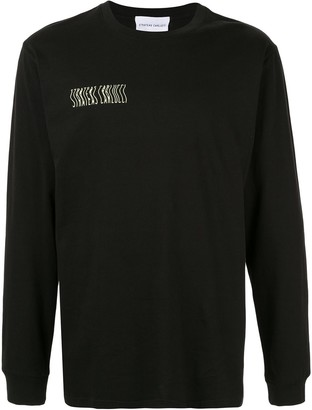 Strateas Carlucci Defect mirrored artwork sweatshirt