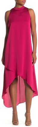 BCBGMAXAZRIA Mock-Neck Trapeze Dress