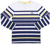 HUGO BOSS Striped Jersey Long Sleeve T-Shirt
