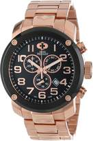 Rosegold Swiss Precimax Men's SP13017 Marauder Pro Black Dial with Rose- Stainless Steel Band Watch