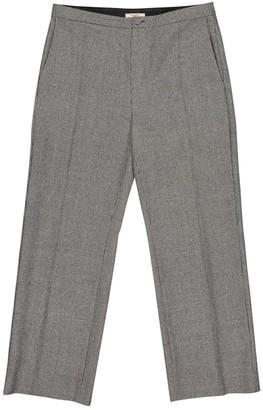 Bouchra Jarrar Grey Wool Trousers