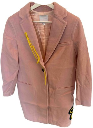 Mira Mikati Pink Wool Coat for Women