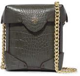 Manu Atelier Pristine Micro Croc-effect Leather Shoulder Bag