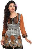 Maple Clothing Indian Kurti Top (Tunic) Printed Womens Blouse India Clothes (, L)