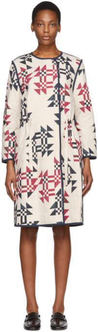 Isabel Marant Ecru Leist Original Quilt Coat
